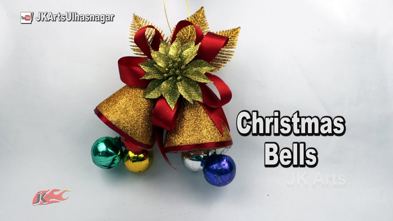 how to make christmas bells from waste bottles diy christmas decoration ideas jk arts 1141 youtube