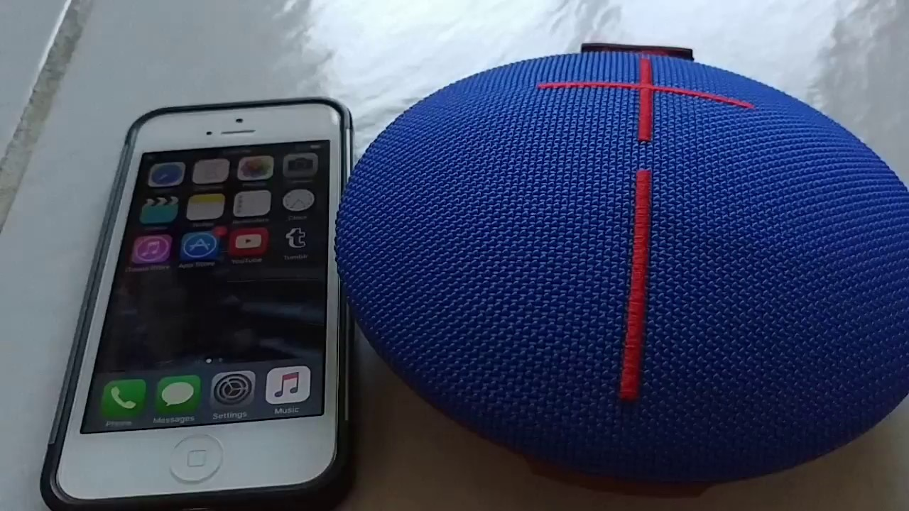 How to pair UE Roll 2 bluetooth speaker to Iphone 5