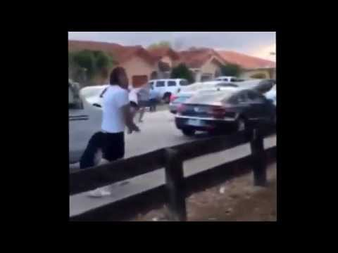 Rapper Stitches and his crew fighting