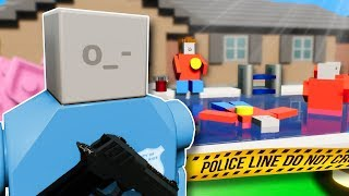 POOL PARTY MYSTERY! - Brick Rigs Multiplayer Gameplay - Lego Police Roleplay
