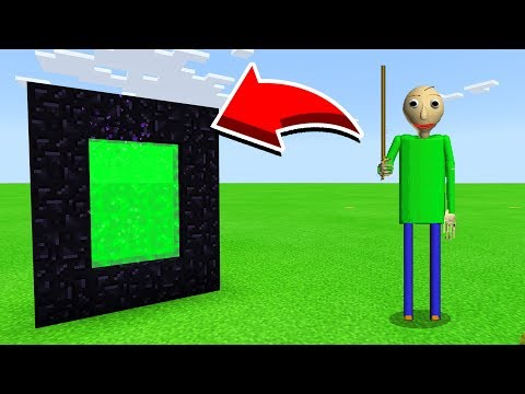 How To Make A Portal To BALDI In Minecaft Pocket Edition/MCPE