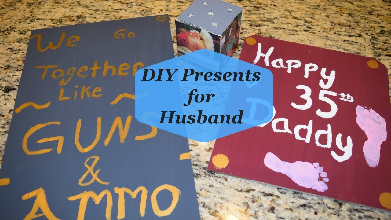 DIY Birthday Presents For Husband