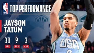 Jayson Tatum Tallies 30 Points & 9 Boards In Rising Stars Game | 2019 NBA All-Star