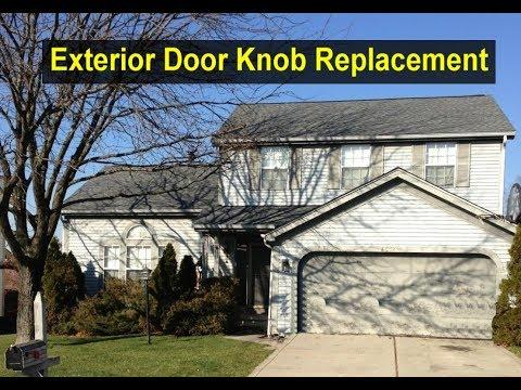how to replace a keyhole door knob | Replace a home door knob for exterior door - Home Repair ...