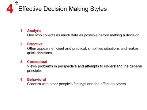 effective decision making An in-depth look on goals, roles and methods of effective decision making meetings.