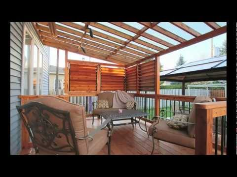 Patio giroux par patios et cl tures beaulieu pierrefonds montr al qu bec youtube - Construire un auvent de porte ...