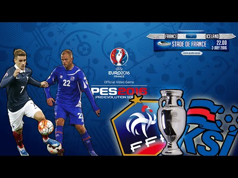 EURO 2016 - QUARTER FINALS - [FRANCE vs ICELAND] (PES 2016)