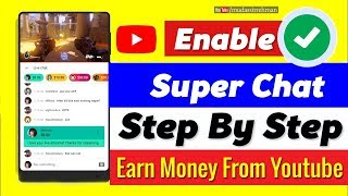 How To Enable Super Chat on Youtube Channel