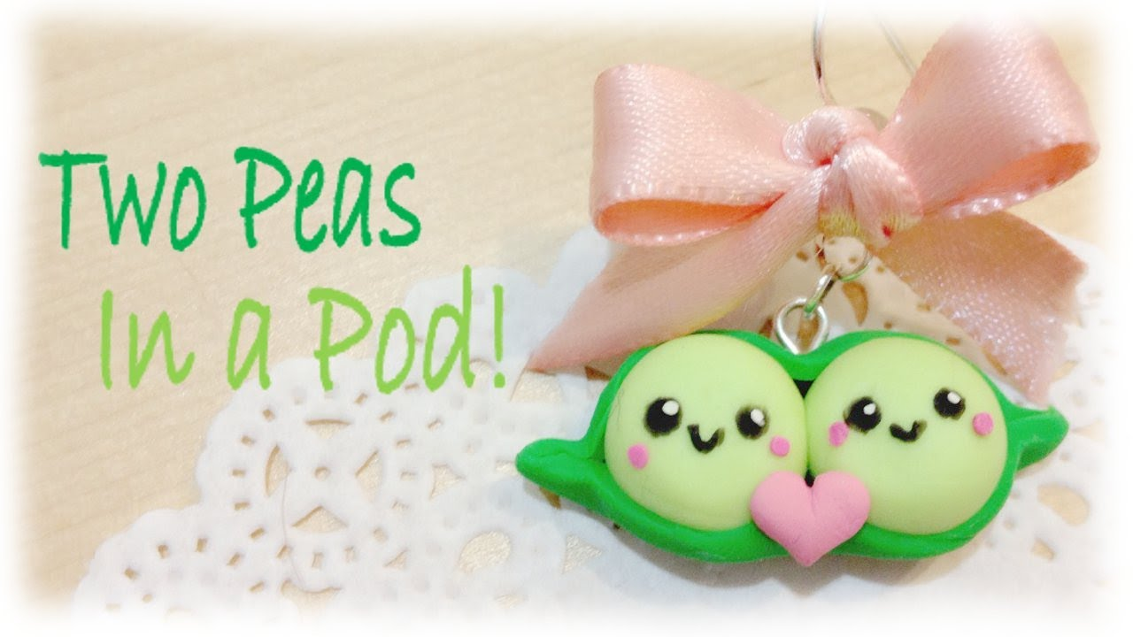 Valentines Two Peas In A Pod Clay Tutorial