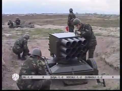 Kornet-E ATGM  and 128 mm RAK-12 mrls of Azerbaijan armed forces