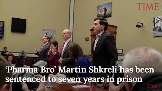 Martin Shkreli cries in court as he gets 7 year jail sentence