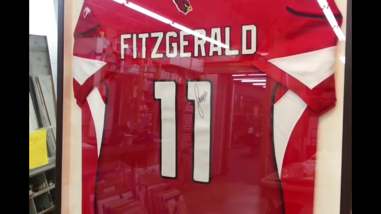 48a63610a How to frame a Sports Jersey - YouTube