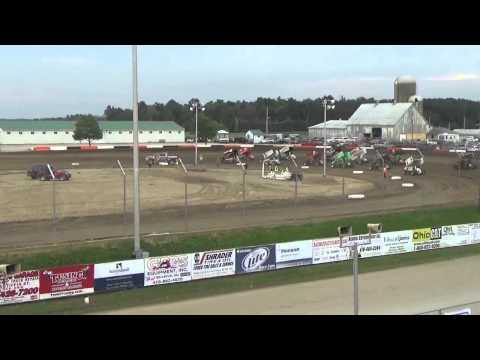 6.19.15 All Star Sprints Heat Races From Attica Raceway Park