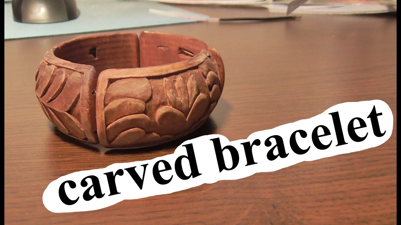 Woodcarving carved bracelet handmade art carving for How to carve a wooden ring