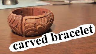 Carved Bracelet | Woodcarving | Handmade | Art | Carving On Wood