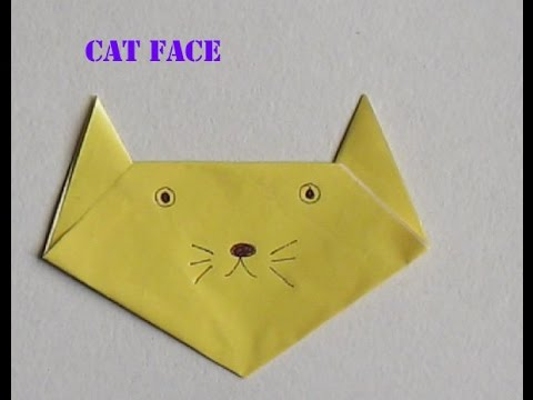 How To Make Cat Face From Papercraft Paper Craft Ideas For Kids
