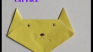 How to make cat face from papercraft | Paper craft ideas for kids | Kids Craft