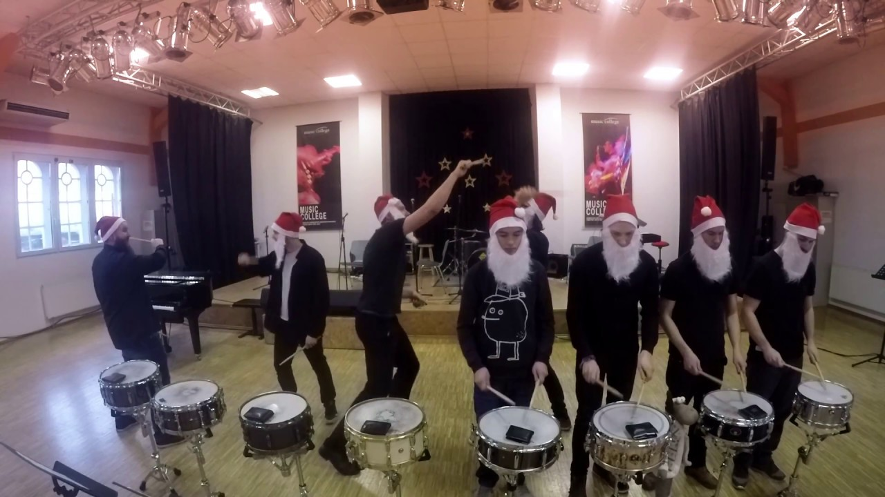 We Wish You A Merry Christmas Drumline MusicCollege Regensburg 2016