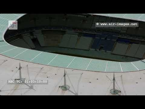 "Aerial Footage The stadium ""Stade de France"" in Saint-Denis near Paris"