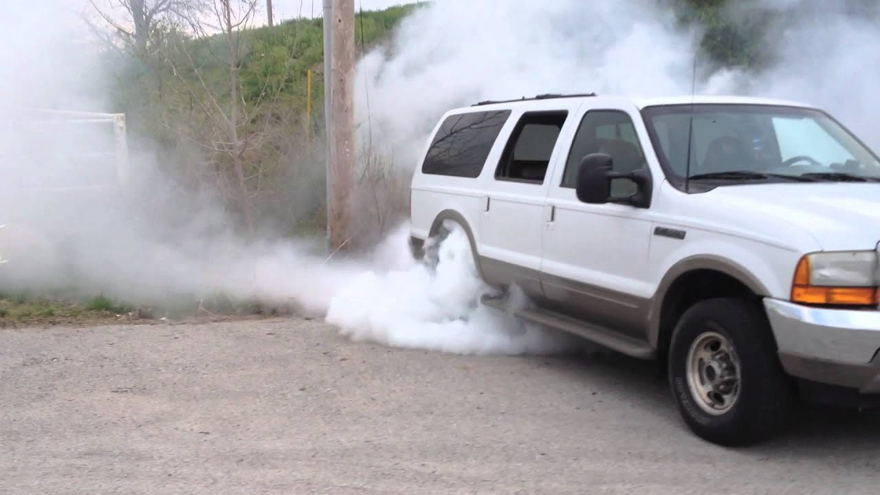 big ford watch diesel powerstroke excursion youtube burnout