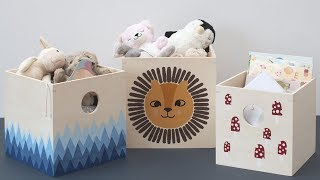 Learn how to make personal and decorative storage boxes - DIY by Søstrene Grene