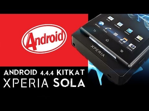 Android 4.4.4 (KitKat) on Xperia Sola (mt27i)