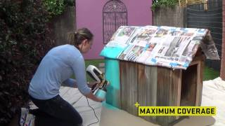 Wagner Flexio 585 - Spraying A Dog House