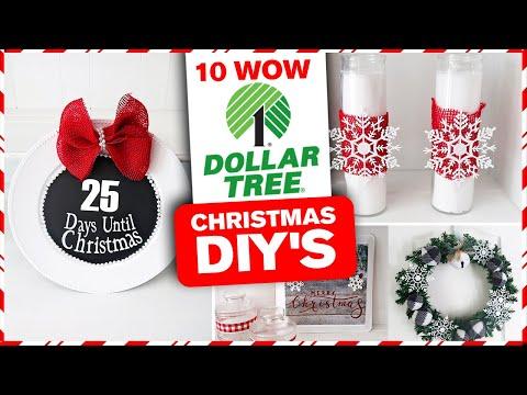 10 WOW Dollar Tree Christmas DIY's 🎄 Christmas Decor