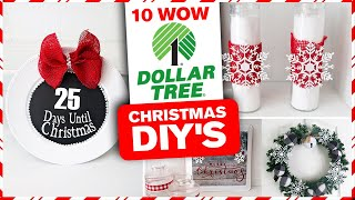 10 WOW Dollar Tree Christmas DIY's 🎄 Christmas Decor