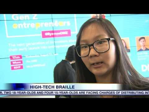 Video: Teens develop app to teach blind children Braille