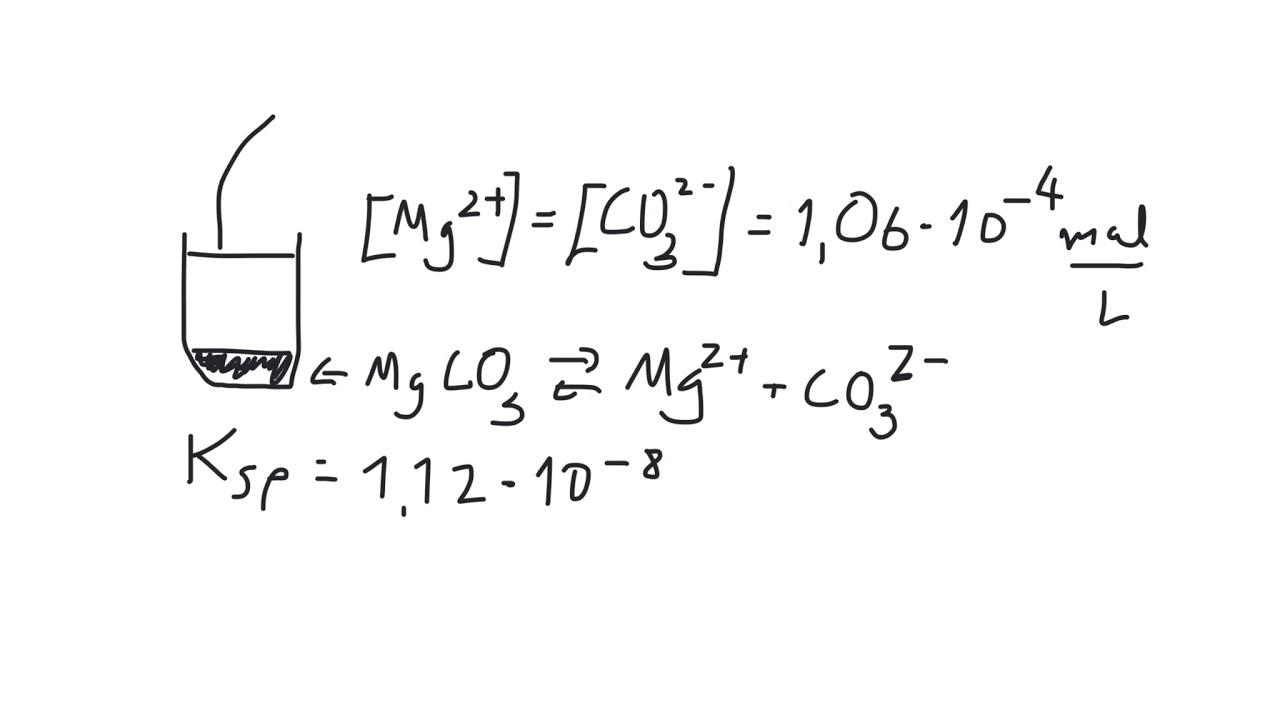 Kjemi 1 - Løselighet: Hvordan regne ut løselighetsproduktet (Ksp) og ioneproduktet (Q)