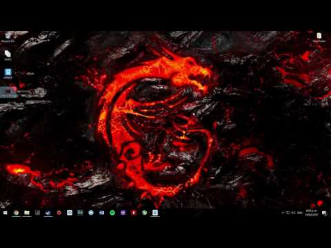 Wallpaper Engine: MSI Dragon Logo test
