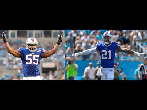 Jerry Hughes & Jordan Poyer vs Panthers (NFL Week 2) - Sackfest! | 2017-18 NFL Highlights HD