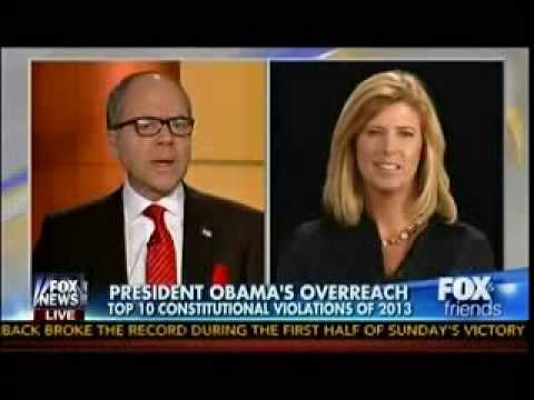 President Obama's Top 10 Constitutional Violations of 2013- Fox & Friends- Dec. 30, 2013