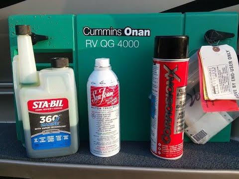 Cummins Onan RV QG 4000 generator exercising, carburetor maintenance and surge prevention