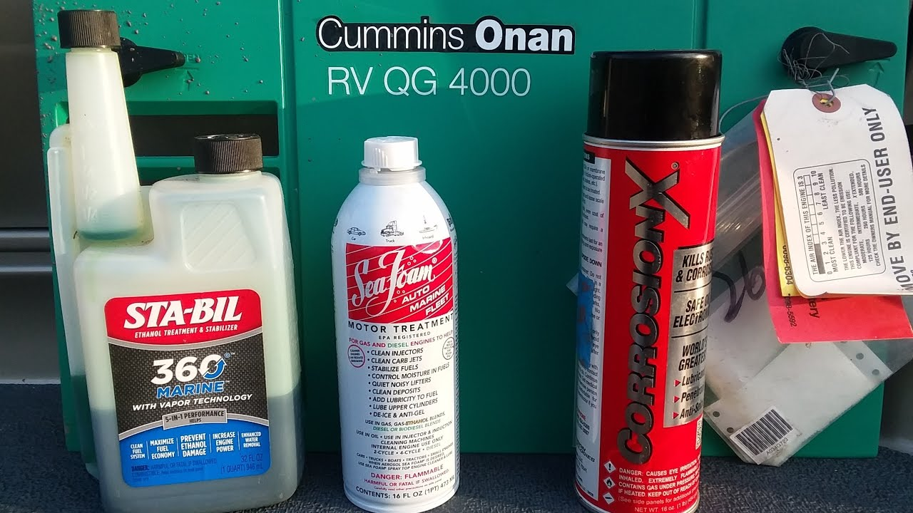Cummins Onan RV QG 4000 generator exercising, carburetor maintenance and surge prevention