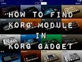 How To Find KORG Module Inside KORG Gadget - iPad Tutorial