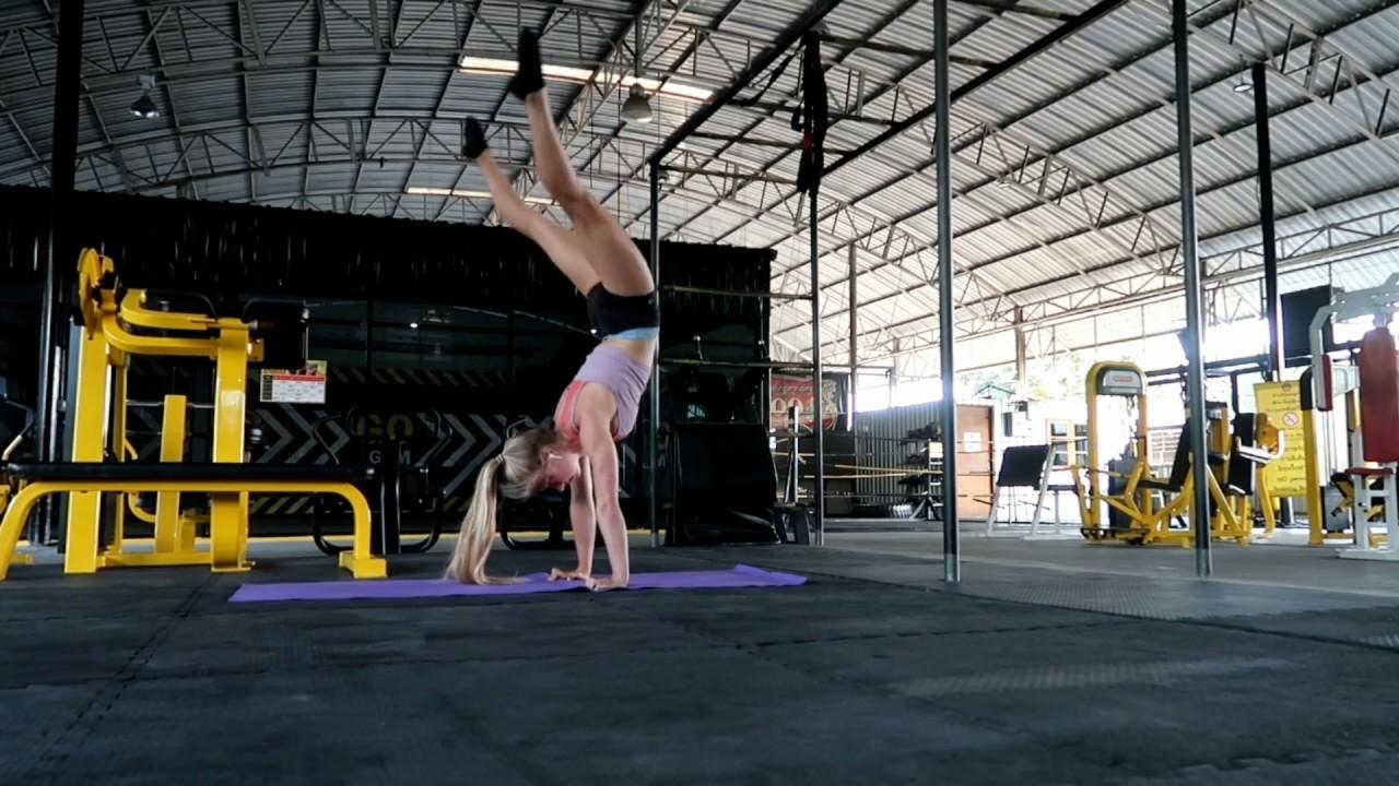 Splits needle, contortion handstands ballet routine