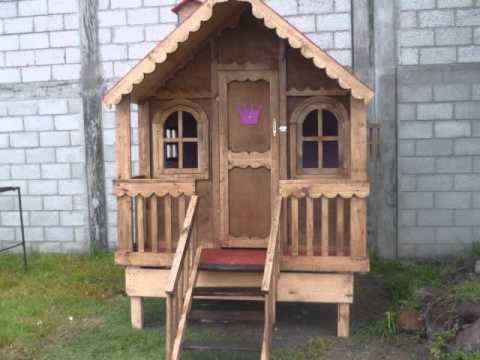 Casitas de madera sherlyn youtube for Casitas de madera
