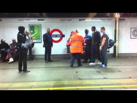 Woman causing trouble at East Ham London Underground