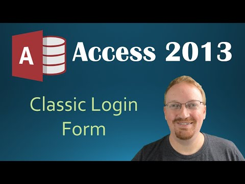 56. Creating A Classic Login Form (Programming In Access 2013)