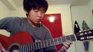 Jay Chou - Cai Hong 彩虹 played in guitar