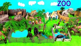 Wild Zoo Animal Toys For Kids Learn Animal Names and Sounds - Tigers Leopards Hippos Giraffes