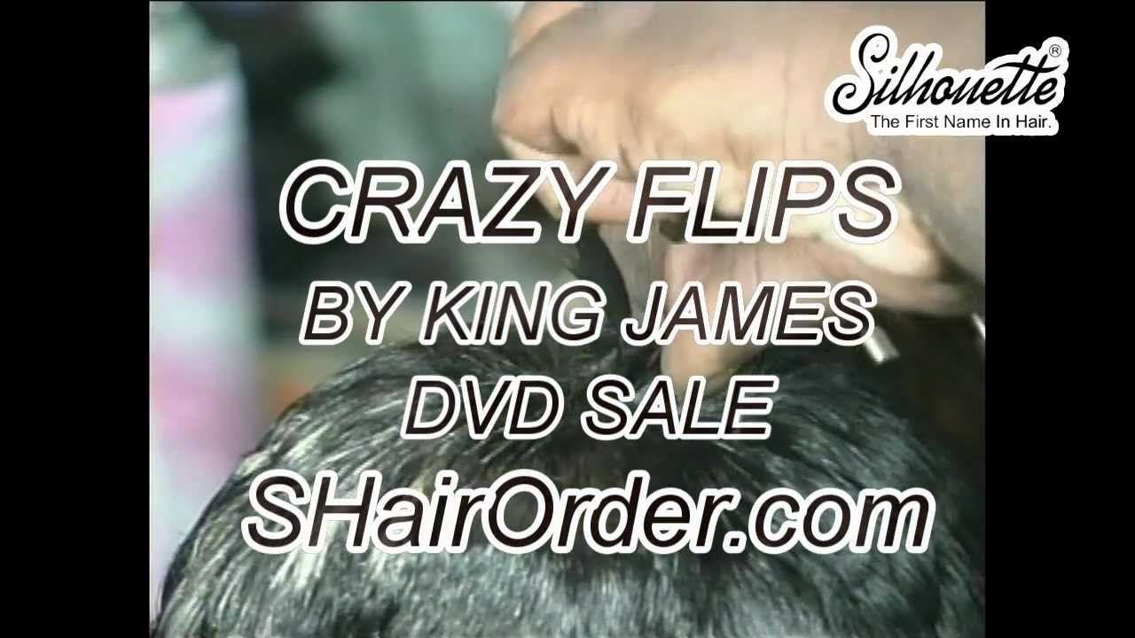 Hair Styling Crazy Flips By King James Youtube
