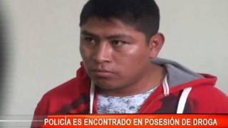 POLICÍA ES ENCONTRADO EN POSESIÓN DE DROGA