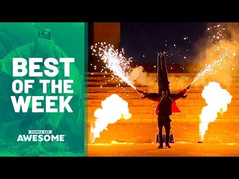 Pyro Acrobats, Ski Flips, Ninja Course & More  Best of the Week
