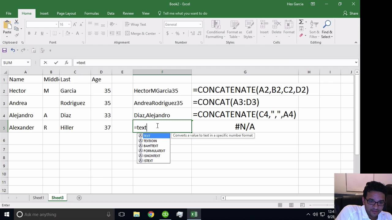 Excel 20 New Features TEXTJOIN & CONCAT vs. CONCATENATE