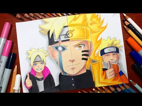 Speed Drawing - Boruto Jougan X Naruto Kyuubi Six Paths Sage Mode (Naruto Shippuden) [HD]