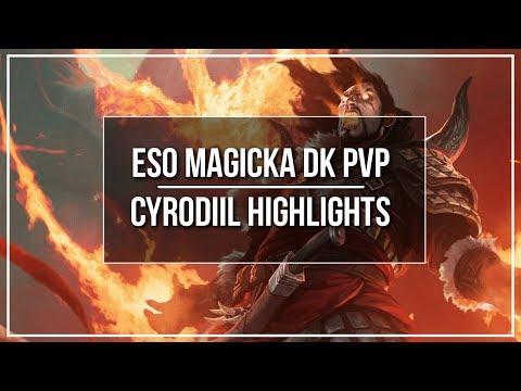 ESO Magicka DK PvP Cyrodiil Highlights