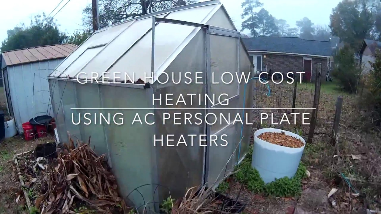 heating a small greenhouse with electricity (lowest watt heater